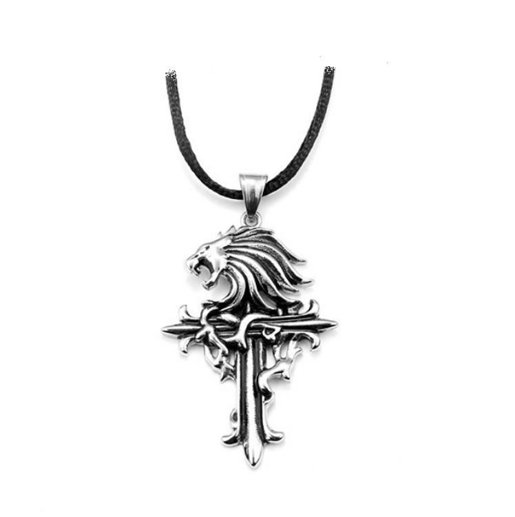 Mens di modo Nuove Idee di Prodotto Della Collana Religiosa Cavo Nero del Drago di Fascino Del Pendente Croce In Acciaio Inox Collana