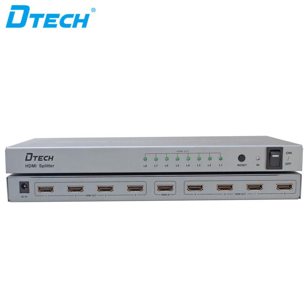 4 K x 2 K 30Hz DC 5 V 1A EDID 3D HDMI 1x8 كامل الرقمية الفاصل