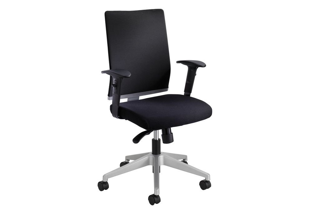 "Tez Mesh Back Chair Black Mesh Back/Silver Frame Dimensions: 25.5""W x 25.5""D x 40.5""H Seat Dimensions: 19.25""Wx18.5""Dx15.5-19""H Back Dimensions: 17.5""Wx21""H Weight: 38 lbs"
