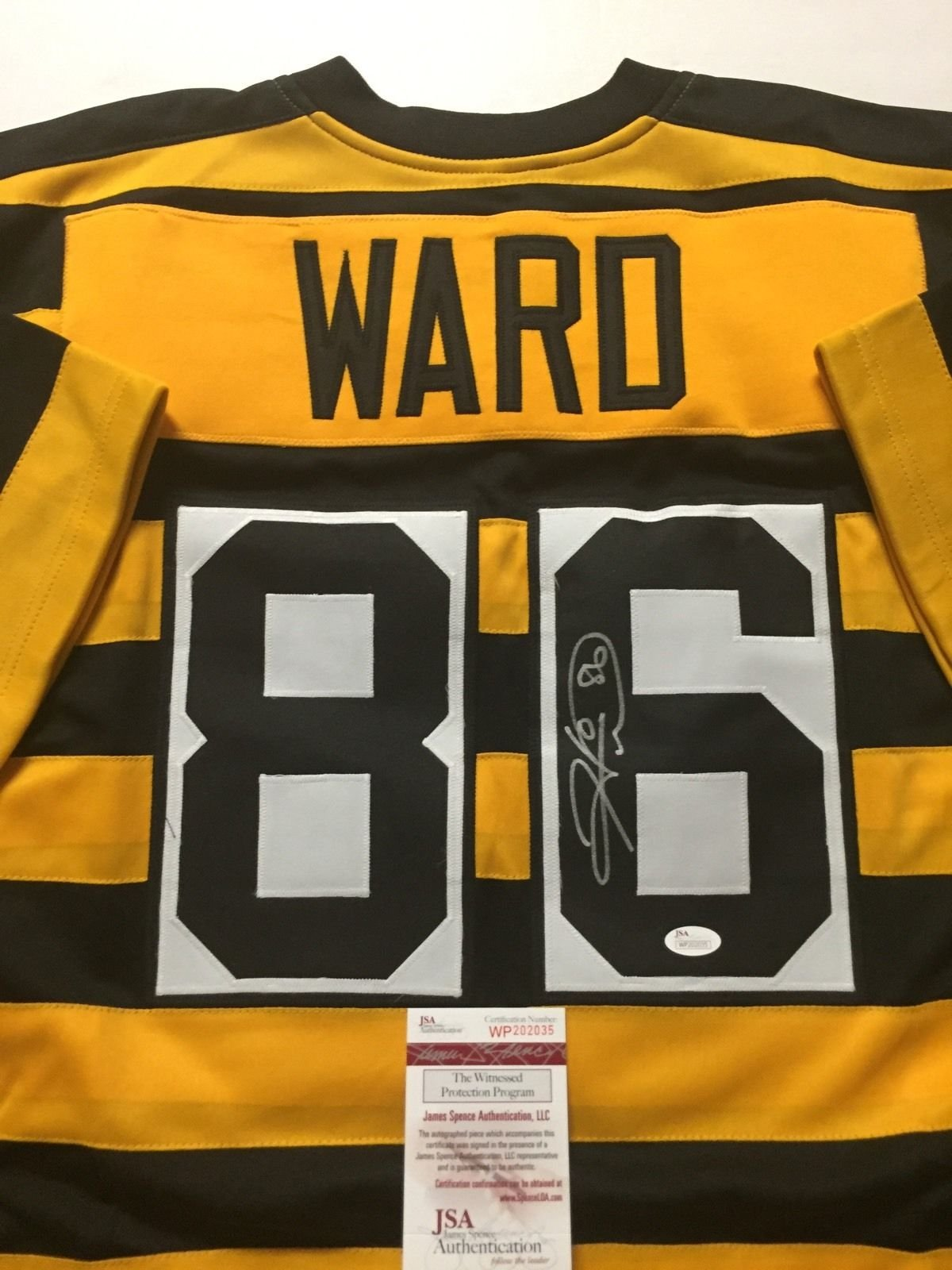 551f21634 Autographed Signed Hines Ward Pittsburgh Steelers Bumblebee Football Jersey  JSA COA