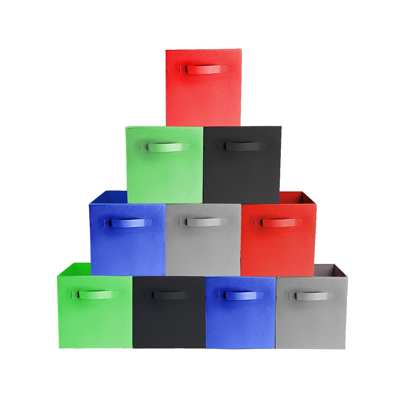 Get Quotations · [10 Pack, 5 Colors] TOP QUALITY Durable Foldable Storage  Cubes For Shelves
