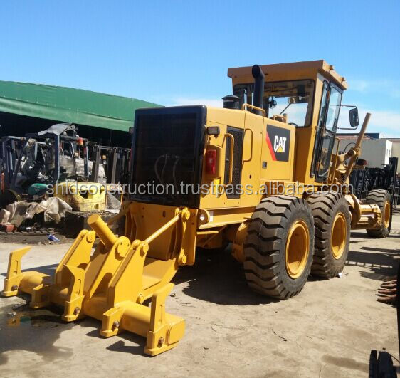 Low Hours and Cheap Price CAT 140K Motor Grader, Used CAT 140K 140G 140H 12G Motor Grader with new tires