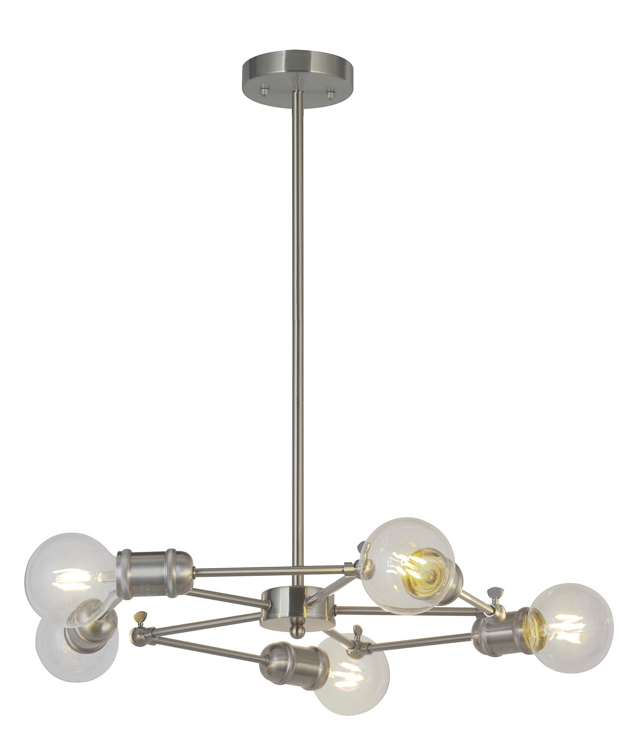 Image of: Buy Vinluz Sputnik Chandelier Lighting 5 Lights Brushed Nickel Mid Century Modern Chandeliers Ceiling Kitchen Lights Fixtures Ul Listed In Cheap Price On Alibaba Com