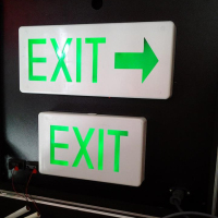 Box Type LED EXIT Sign Single Face - Arrow Right