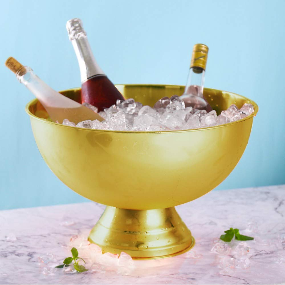 40 cm large stainless steel ice bucket copper plated Champagne Bucket Ice Bowl