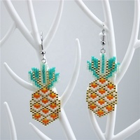 CH-GME0053 Lovely pineapple shape miyuki seed earring,simple girls jewelry earrings cheap wholesale