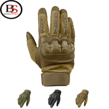 Mens Full Finger Motorcycle Racing Riding Bike Protective Armor Leather Gloves