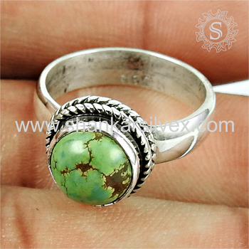 Lovely turquoise gemstone ring silver jewellery handmade 925 sterling silver rings jewelry wholesaler
