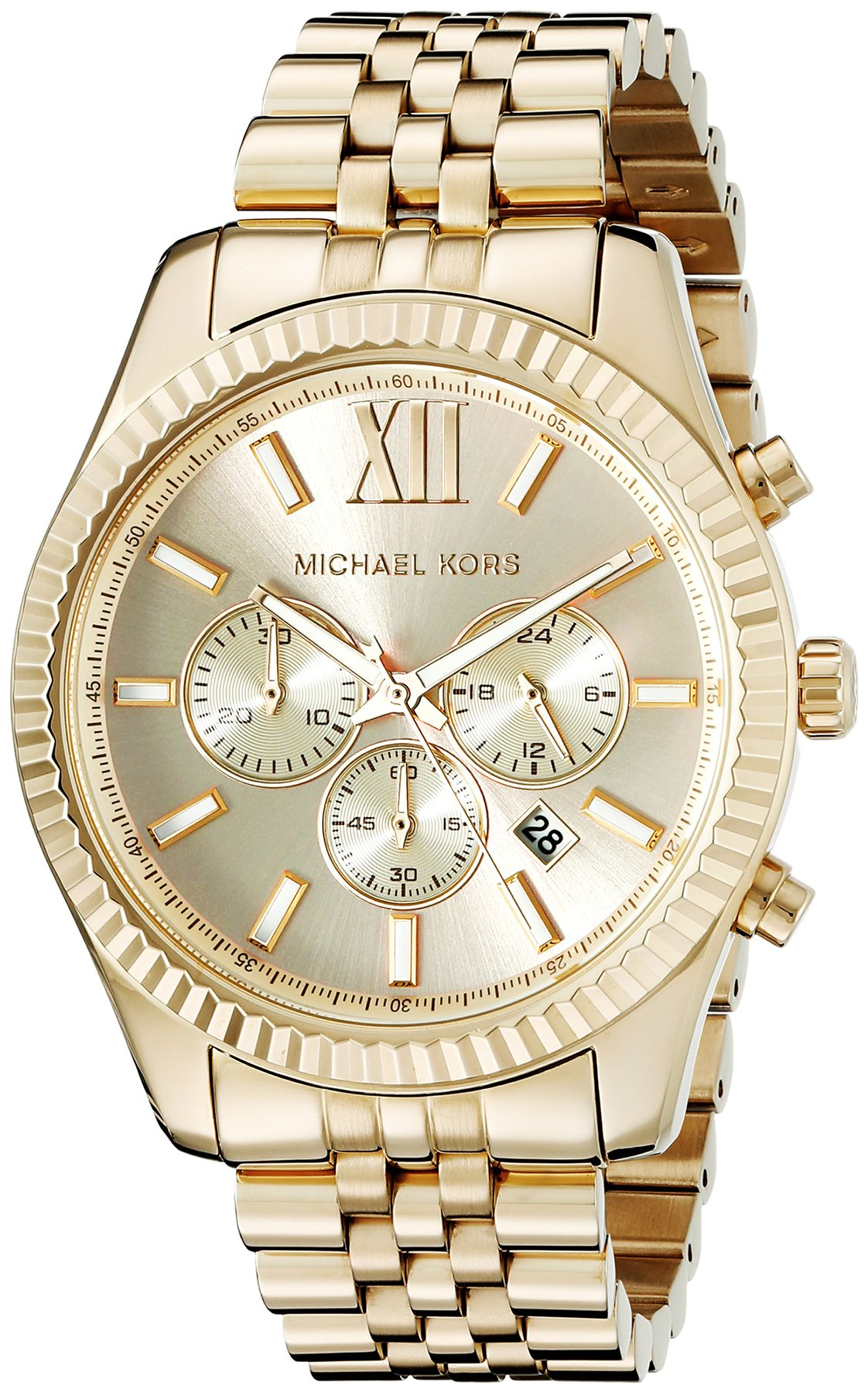 Get Quotations · Michael Kors Lexington Gold-Tone Stainless Steel Watch  MK8281 1010b4ae81