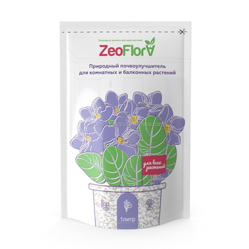 Soil conditioner ZeoFlora for indoo plants, violet, 1 liter