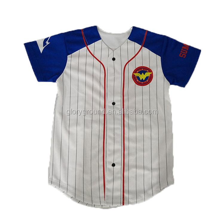 Kinder schlichter Baseball-Jersey aus Baumwolle