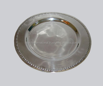 Stainless Steel Charger PlateWedding Charger PlateMetal Under PlateDecorative Charger Plate & Stainless Steel Charger PlateWedding Charger PlateMetal Under ...