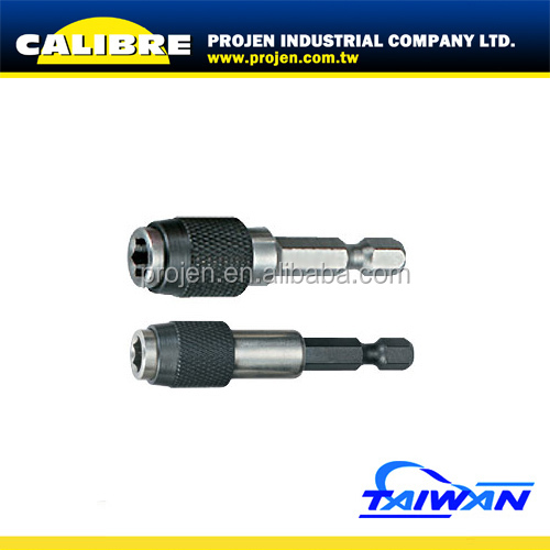 CALIBRE 2PC Stainless Steel Quick Release Extension Bar Socket Screwdriver Bit Holder Quick Release Bits Holder