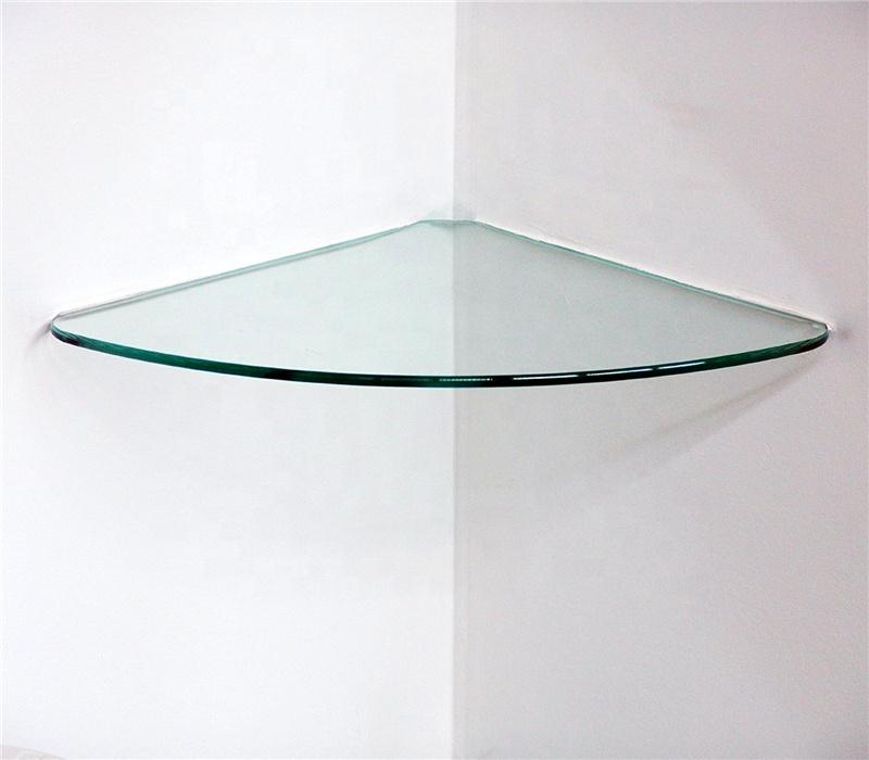 Die kanten sind poliert runde ausgezeichnete gehärtetem glas regal