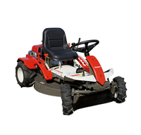 Riding type lawn mower machine for agricultural field weed