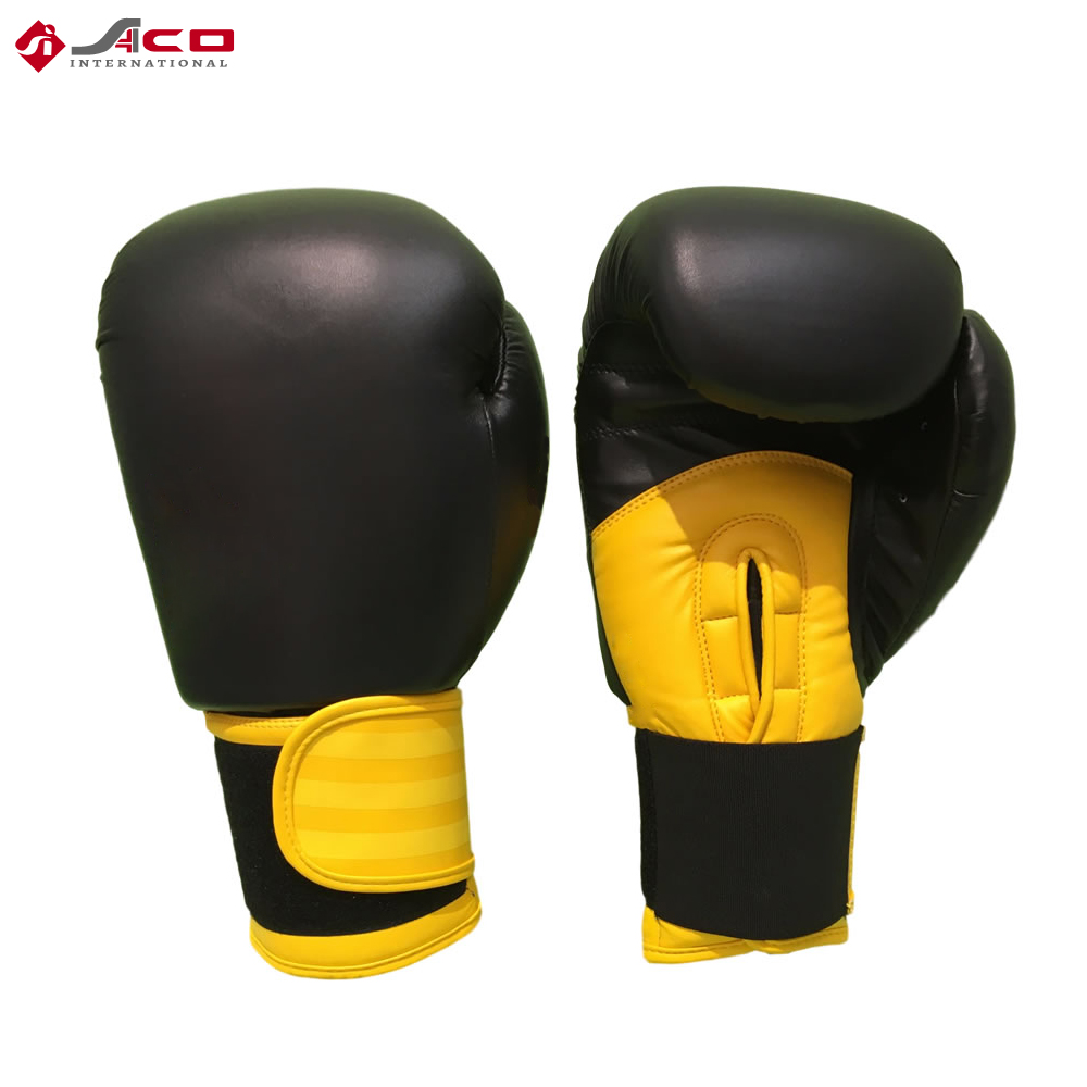 Custom Made Leather Black Boxing Gloves
