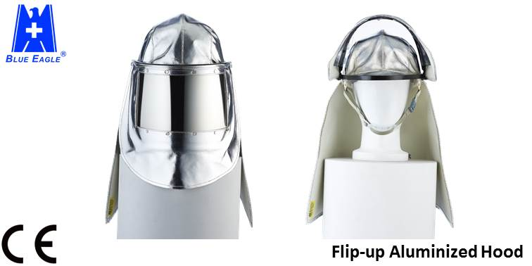 CE EN 11612 Flip-up visor heat resistant suit aluminized fire hood -1