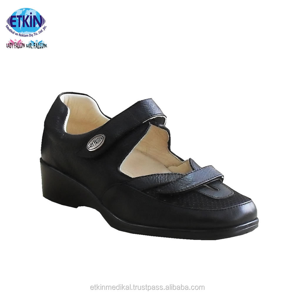 Foot Leather Ulcer Medical Comfortable for Diabetic Orthopedic Footwear Soft 4aFqRH