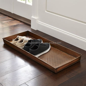 Entryway Large Emboss Metal Tray | Muddy Extra Larges Boot Tray
