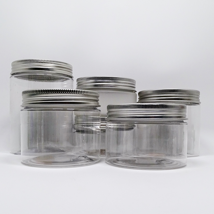 50g 100g Good Supplier  Black  Matte Jar Plastic Lid With Sealing Cover for Cream Cosmetic Container
