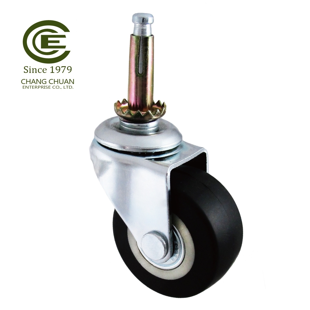 Small 2 Inch Plate Swivel Flat Caster Wheel