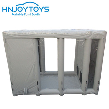 Large cube paint booth filters with inflatable spray paint booth oven boxs for sale