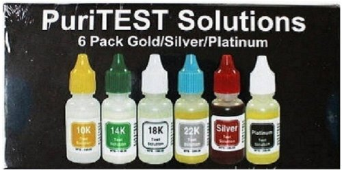 Gold Test Acid Kit 10k 14k 18k 22k Silver Tester Detector Metal Jewelry Testing