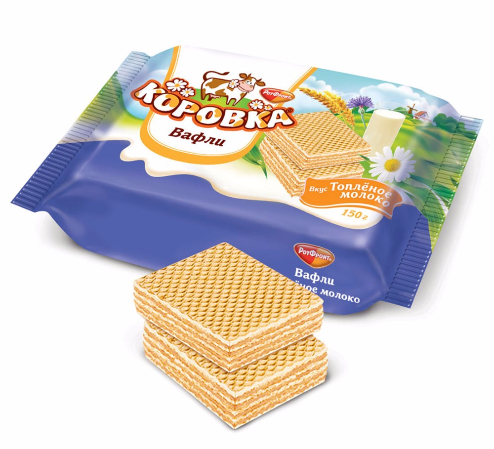 Wafers Korovka Baked Milk - Biscuits And Cookies.