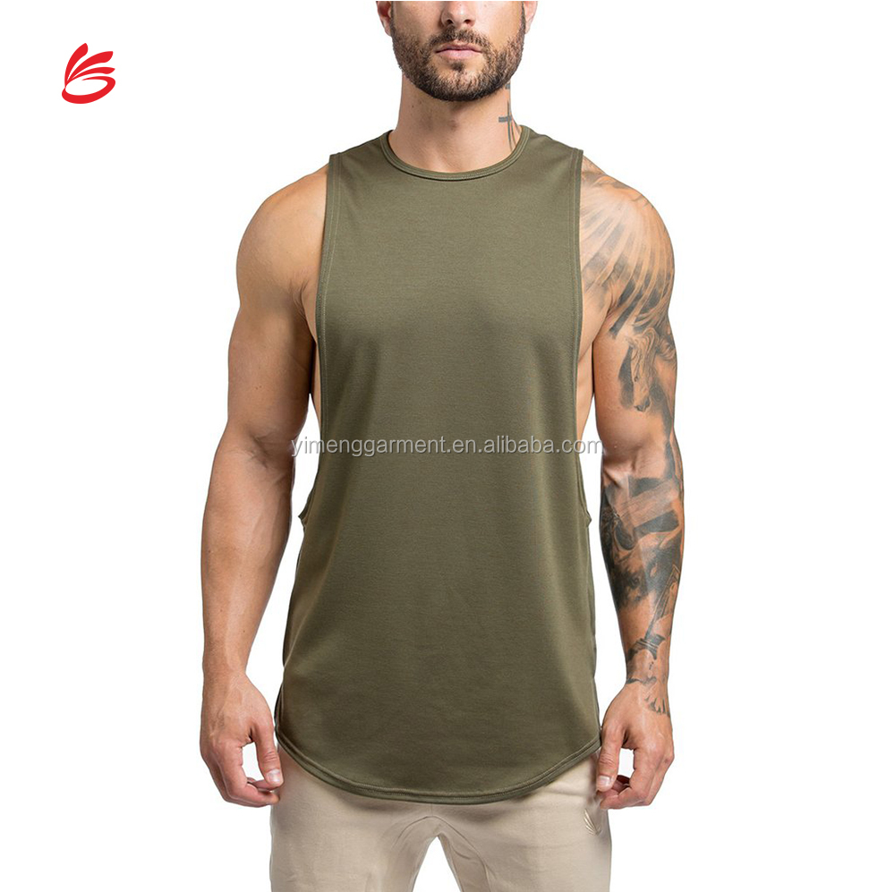 998c6c7c6ba20b Chinese 2018 Hot sexy Muscle Men Gym Olive tank top strech custom bodybuilding  stringer vest wholesale