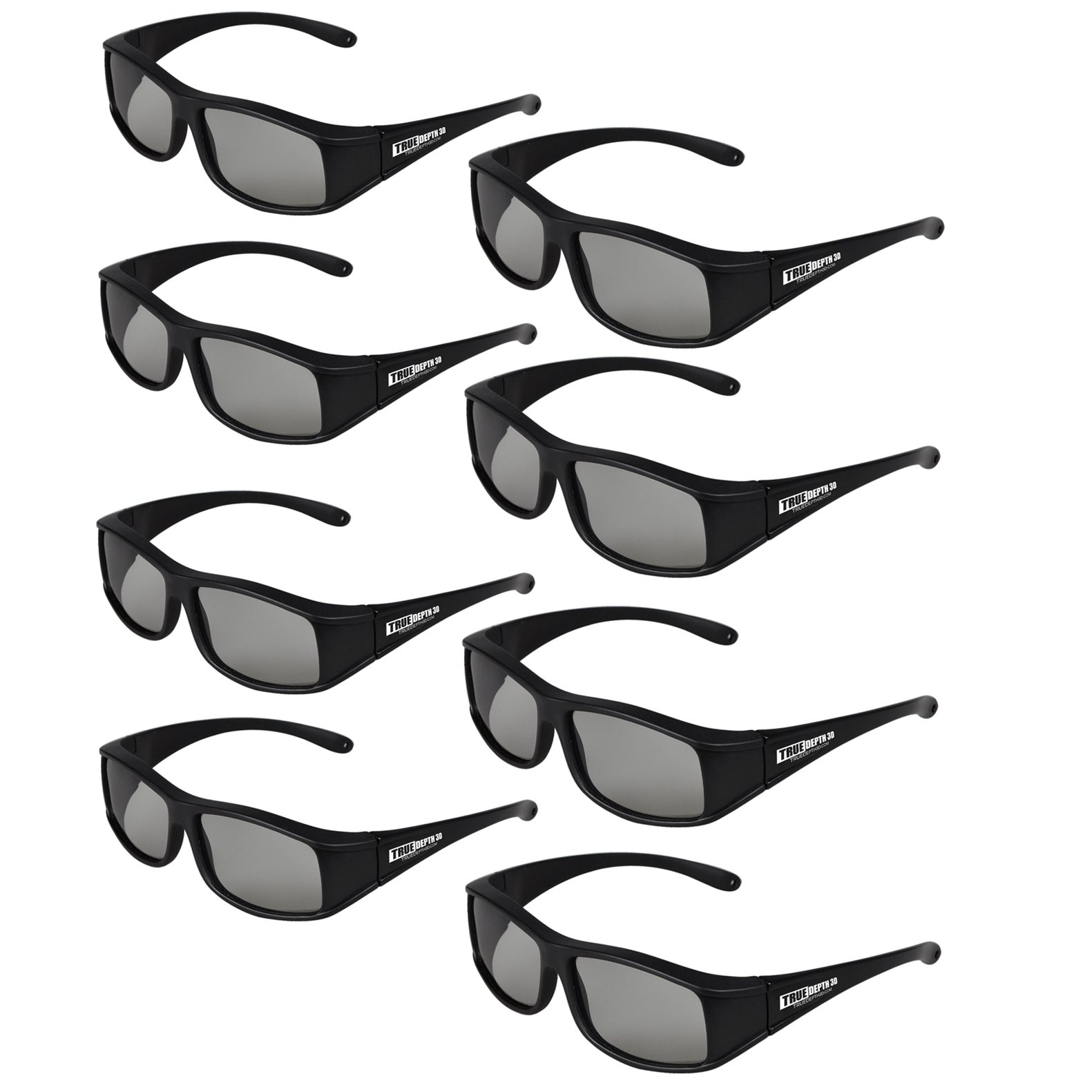 True Depth 3D® Circular Polarized Glasses for Passive Vizio 3D TVs (8 Pairs!)
