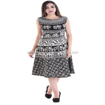 f222b112f5 Cotton Rajasthani Animal Print Short Dress - Buy Dress