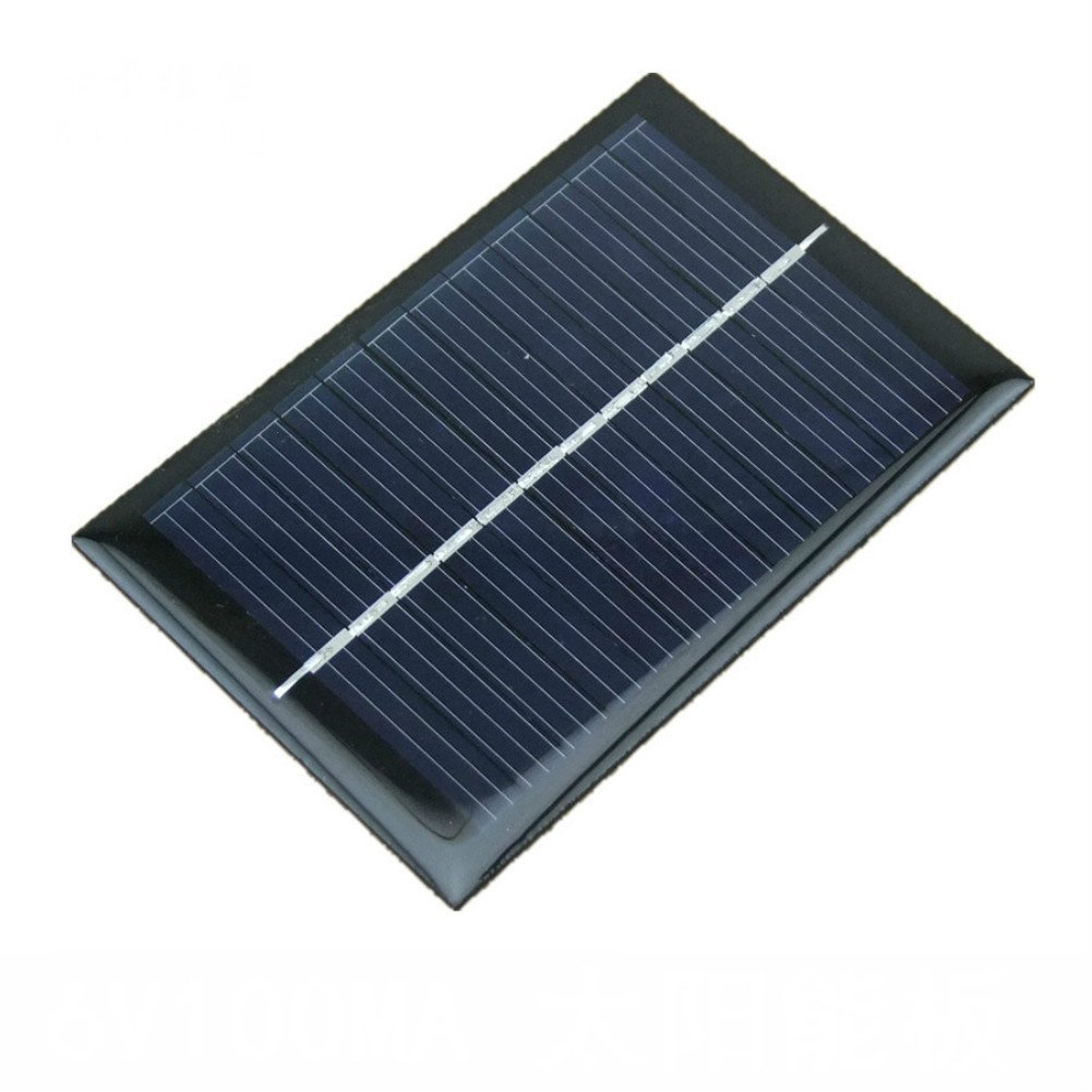 AOSHIKE 5pcs 6V Solar Panel 100mA 0.6W Polycrystalline Silicon Solar Cell Charger for The Phone Charger Photovoltaic Cell 90x60mm/3.54x3.26