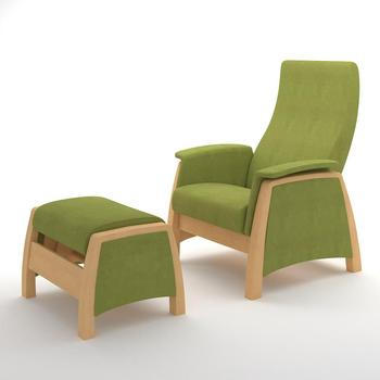 Glider relax armchair with ottoman G1&P1 Verona Apple Green