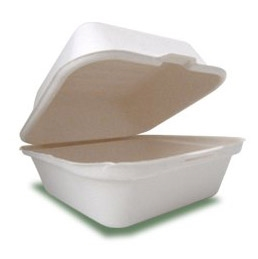 Disposable Biodegradable Clamshell Food Containers in Hot Sale