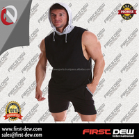 Wholesale From Alibaba Website Sleeveless Stringer Muscle Gym Training Vest Hoodie