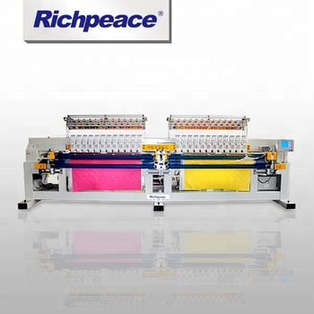 Max speed 750rpm Multi-Color Richpeace Computerized Dual Roller Quilting Embroidery Machine