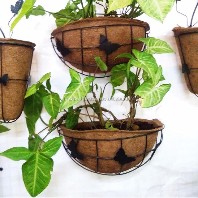 Coco Coir Pots Wall Flower Pots Rack