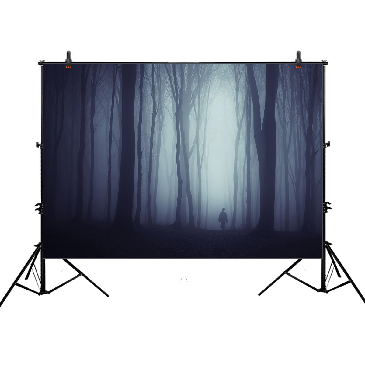 Allenjoy 7x5ft photography backdrop background halloween woods horror scary Ghost night spooky dark forest props photo studio booth