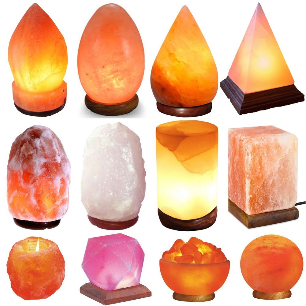 Himalayan Natural Crystal Pink Orange Fancy Stylish Crafted Salt Lamps