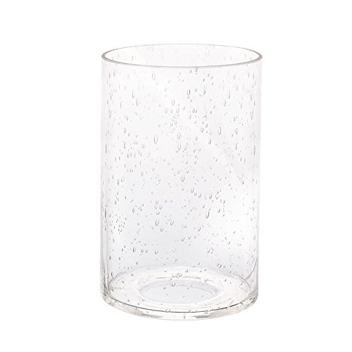 Eumyviv A00001 Cylinder with Bottom Clear Bubble Glass Lamp Shade