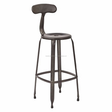 Industrial Metal Backrest High Bar Chair