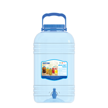 HOT SALES ROUND plastic water bottle PET bottle 10L 15L 20L with handle made in Vietnam