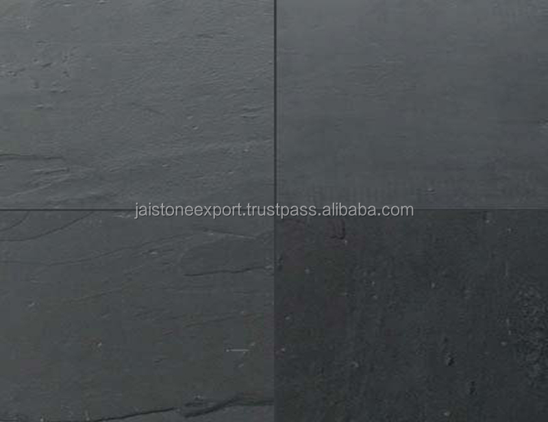 Natural Black Slate Stone for wall cladding, roofing, paving and flooring