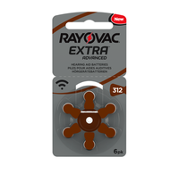 Rayovac EXTRA ADVANCED 312 / PR 41 Hearing Aid Battery