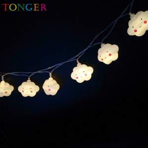 Cloud Shape String Lights, Battery(AA) Operated with Lights 10PCS