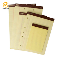 Fancy personalize standard yellow legal notepad writing pad for office