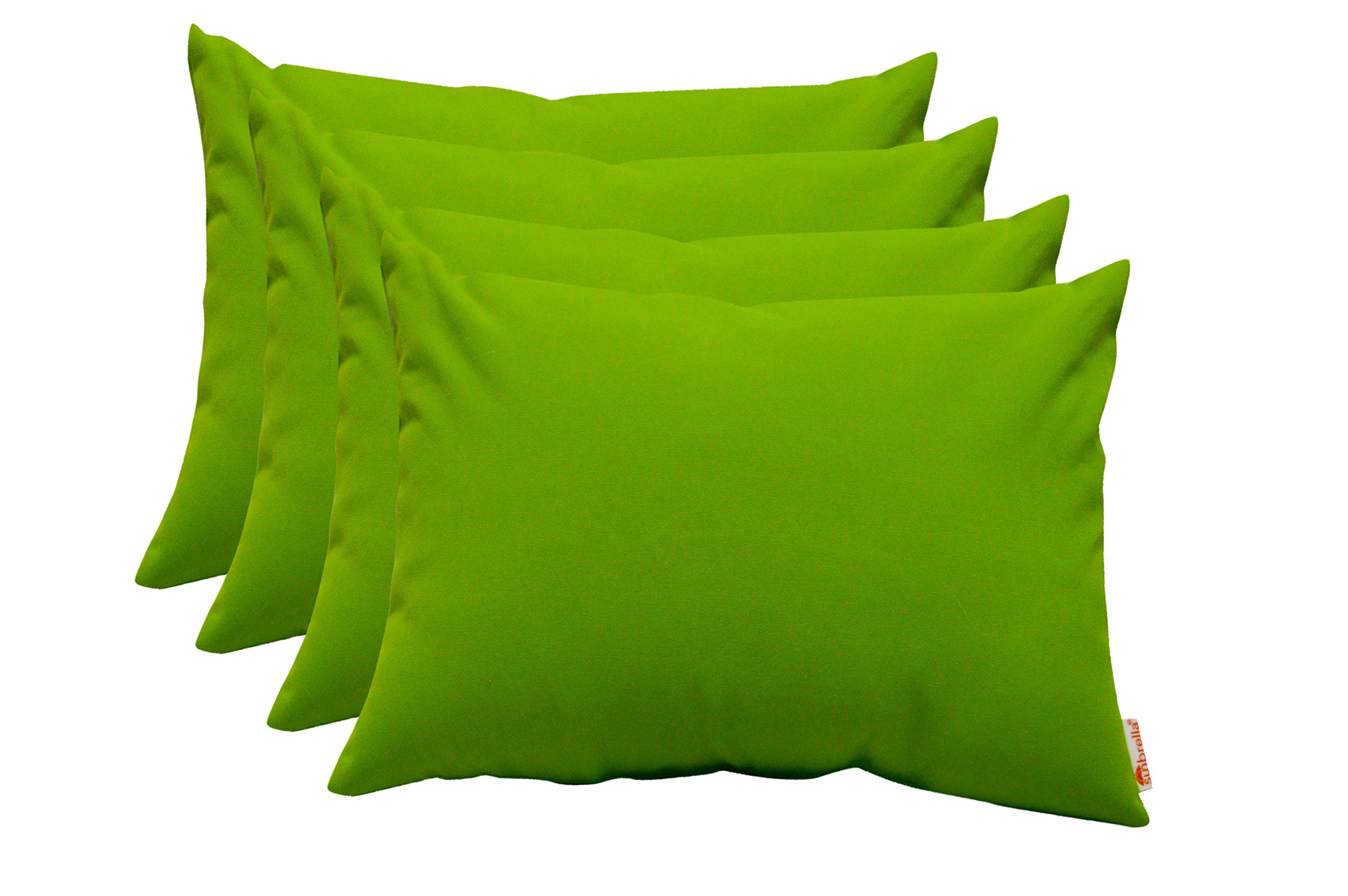Set of 4 Indoor / Outdoor Decorative Lumbar / Rectangle Pillows - Sunbrella Canvas Macaw