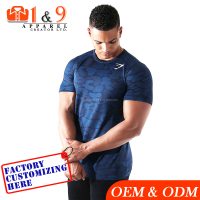 Custom made Athletic Gym sports t shirts for men t-shirt dry fit running
