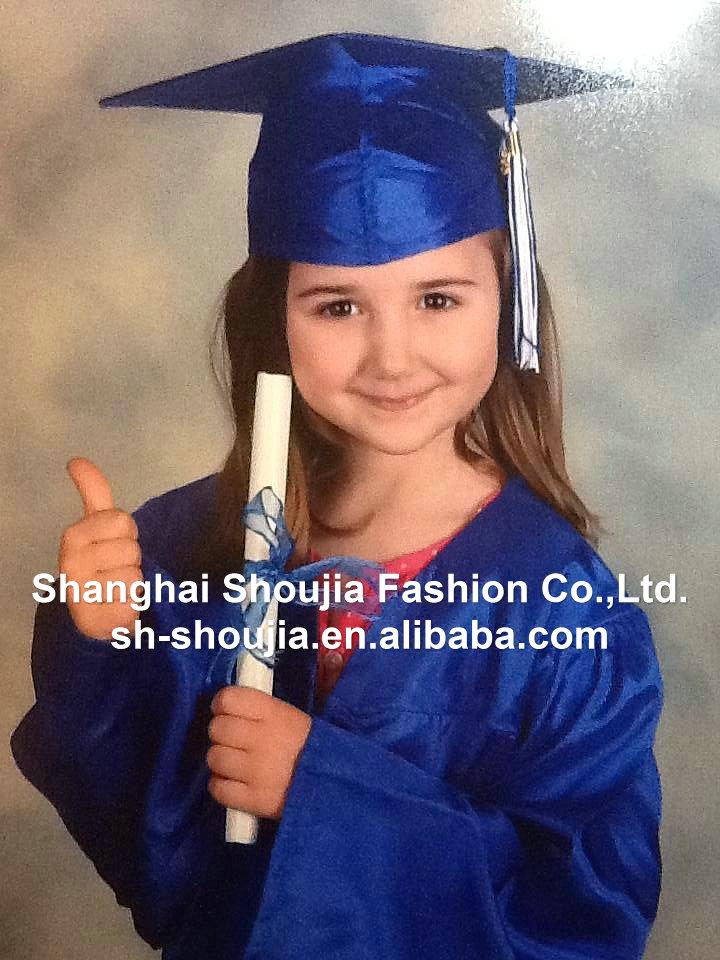 Wholesale preschool royal color kids graduation gowns and caps, View ...