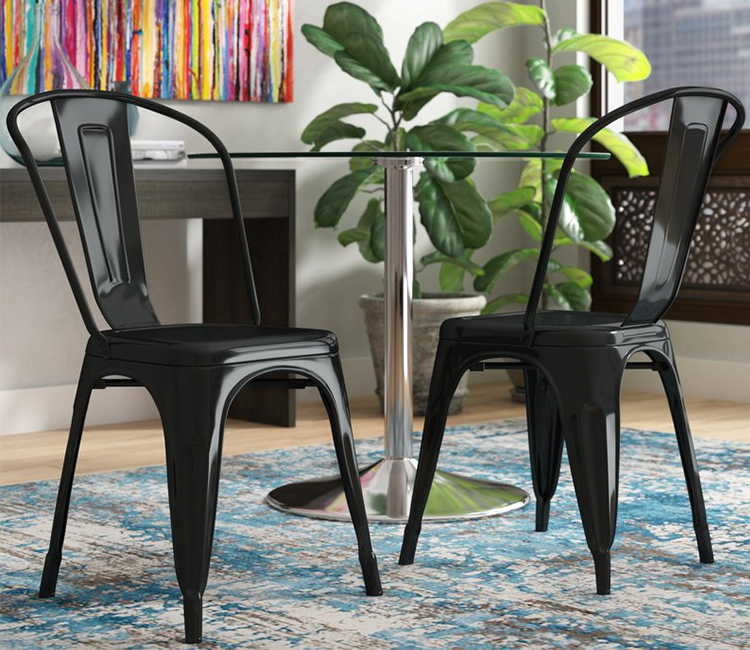 Hot Deals Modern Steel Iron Industrial Metal Chair, Hotel Restaurant Dining Chair